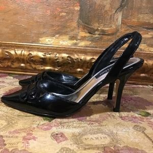 White House Black Market  Patent Leather Heels